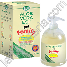 Aloe Vera Gel Family con Vitamina E e Tea Tree Oil