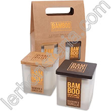 Heart & Home Bamboo Gift Set 2 Candele