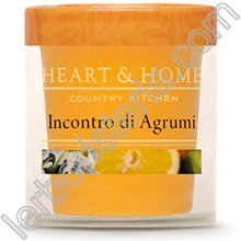 Heart & Home Candela Incontro di Agrumi Small