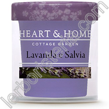 Heart & Home Candela Lavanda e Salvia Small