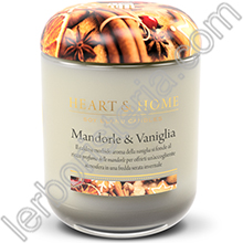 Heart & Home Candela Mandorle e Vaniglia Medium