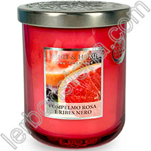 Heart & Home Candela Pompelmo Rosa e Ribes Nero Medium