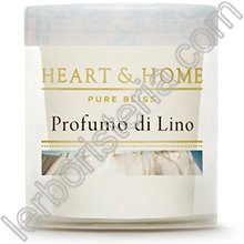 Heart & Home Candela Profumo di Lino Small
