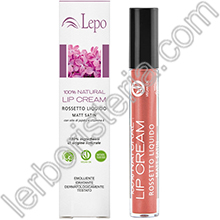 100% Natural Lip Cream Rossetto Liquido Mat Satin Tonalità 04 Pesca