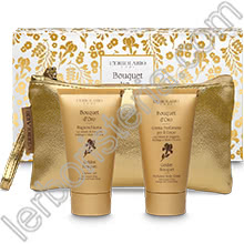 Bouquet d'Oro Beauty-Pochette con Bagnoschiuma e Crema Corpo
