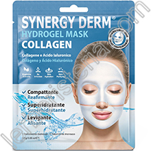 Synergy Derm Hydrogel Mask Collagen Maschera Viso al Collagene Acido Ialuronico Olio d'Argan e Alghe