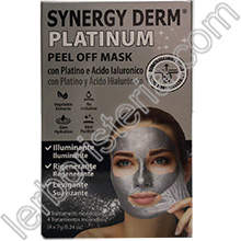 Synergy Derm Platinum Peel Off Mask con Platino, Acido Ialuronico e Polvere di Diamante