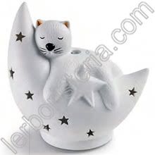 Kitty Diffusore a Ultrasuoni in Ceramica con Cromoterapia
