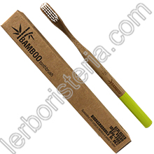 Bamboo Toothbrush Spazzolino da Denti EcoBio in Bamboo Hard Lime