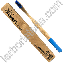 Bamboo Toothbrush Spazzolino da Denti EcoBio in Bamboo Medium Blu