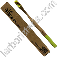 Bamboo Toothbrush Spazzolino da Denti EcoBio in Bamboo Medium Lime