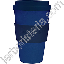 Ecoffee Cup Ecotazza Bambù Biodegradabile Deep Blue
