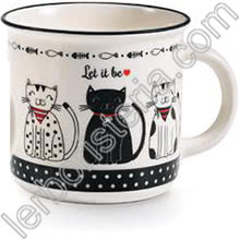 Tazza Mug Swinging Cats Let Is Be