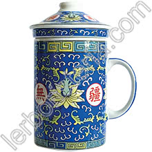 Tisaniera Old China Loto Blu