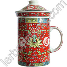 Tisaniera Old China Loto Rosso