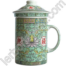 Tisaniera Old China Loto Verde